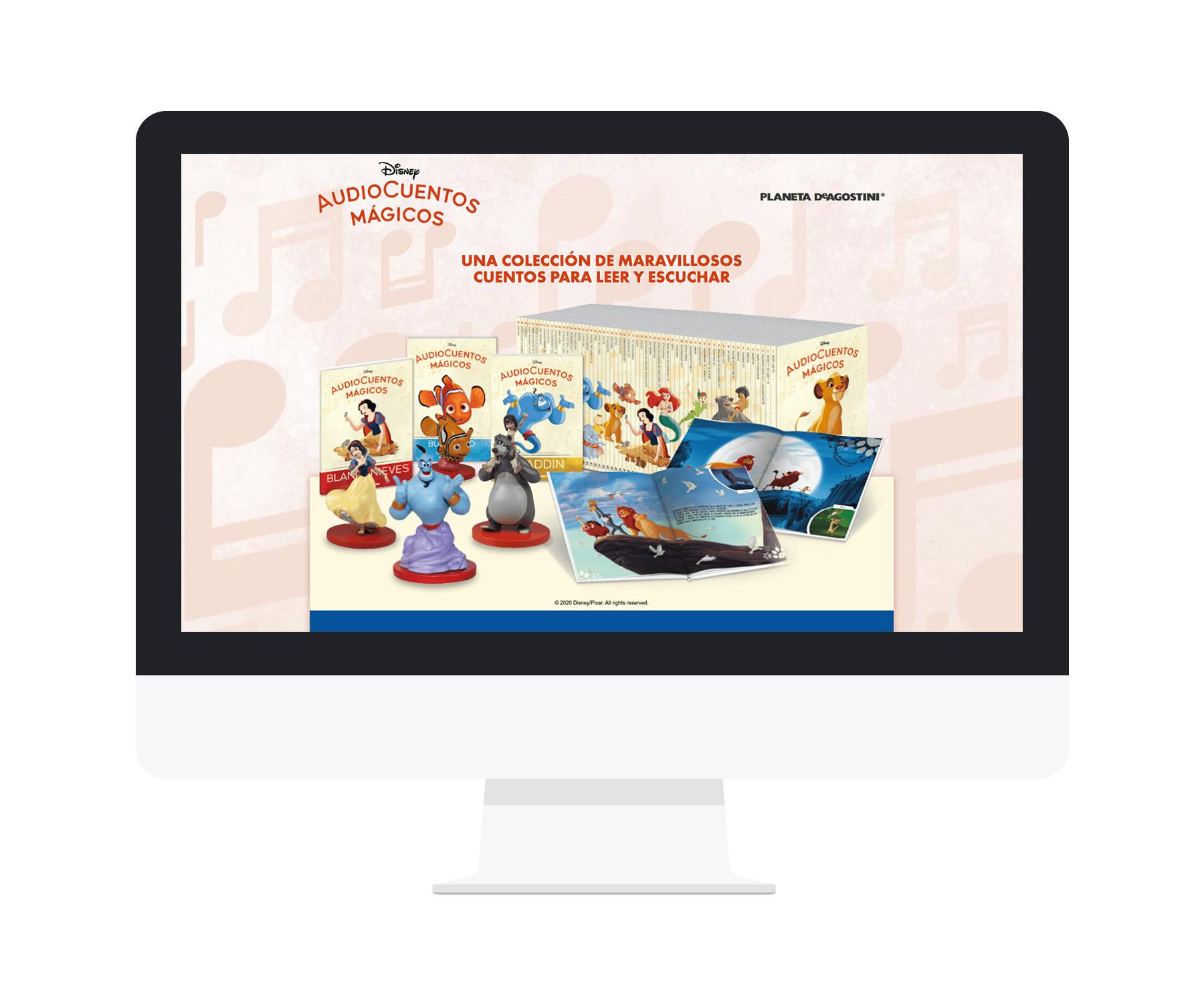 Screen del diseño de microsite AudioCuentos Mágicos Disney