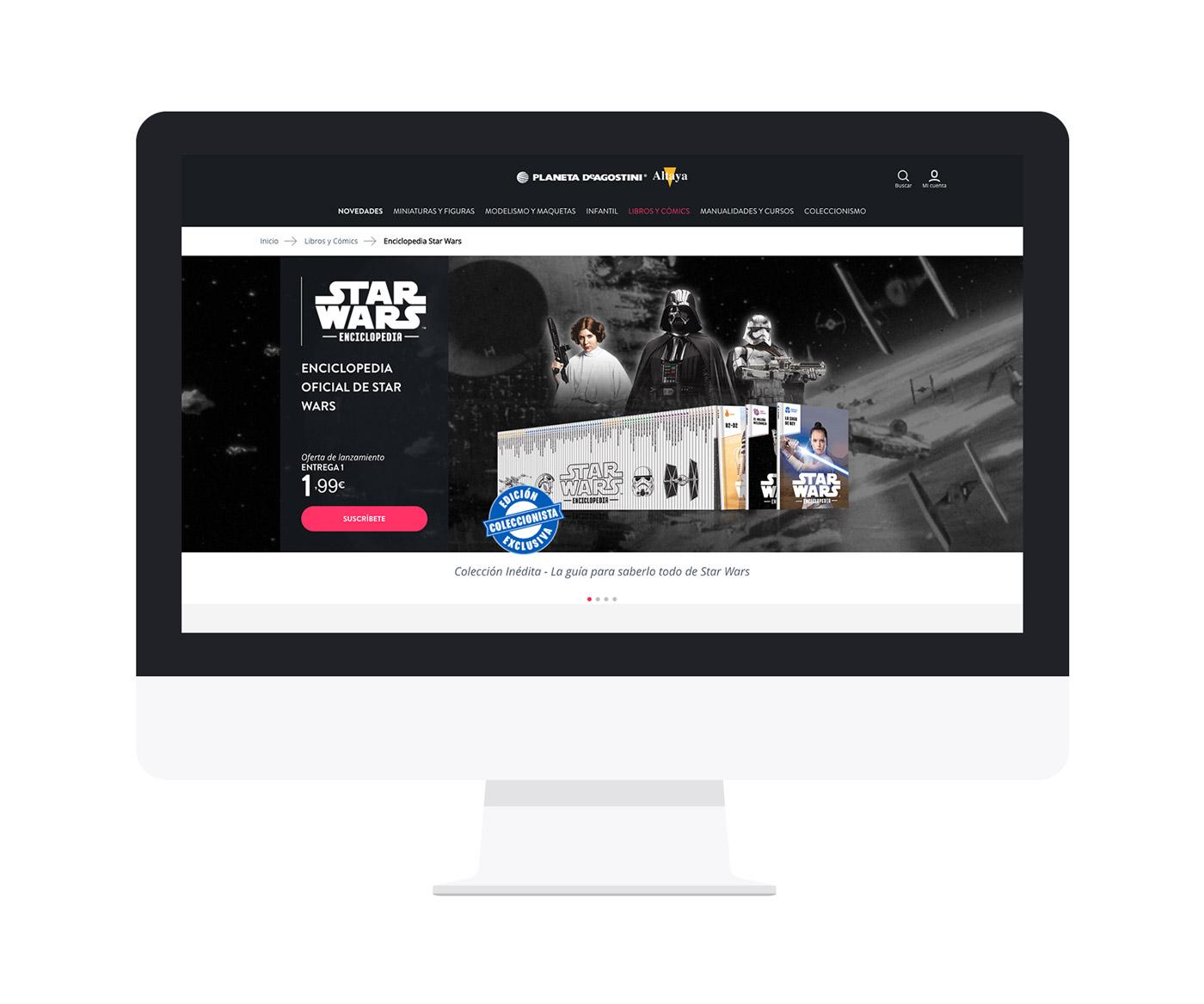 Screen del diseño de colección Star Wars Enciclopedia