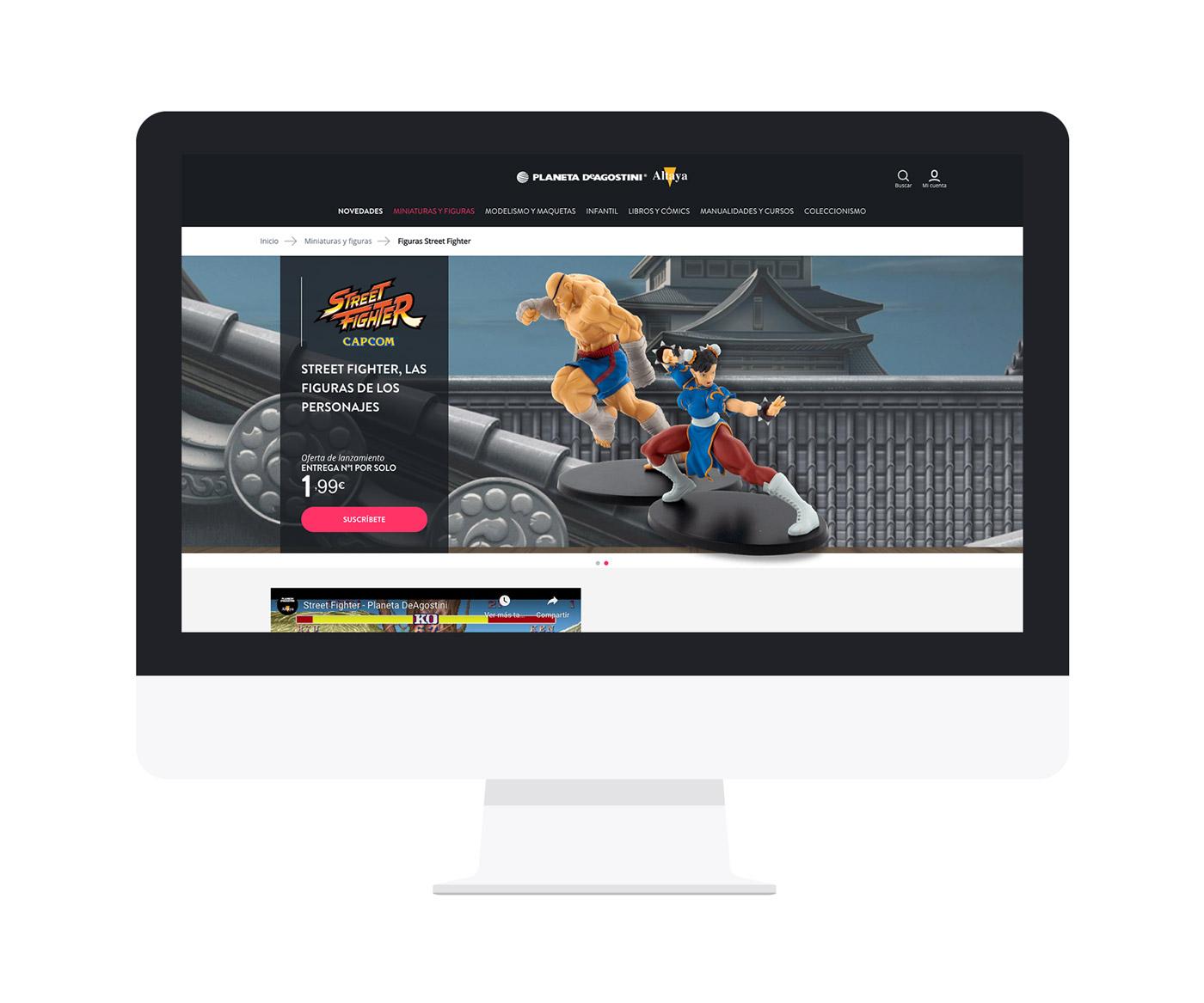 Screen del diseño de colección Street Fighter